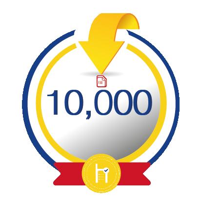 10,000 créditos