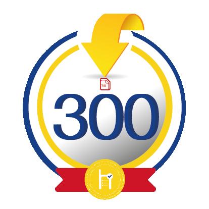 300 créditos