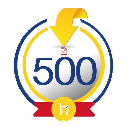 500 créditos